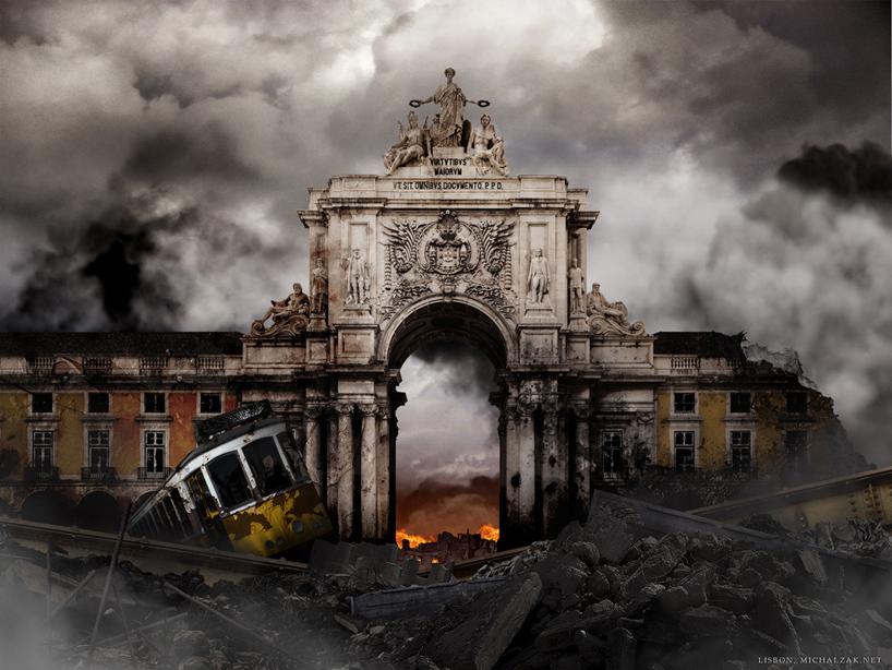 michal-zak-destroyed-capital-city-art-lisbon-portugal