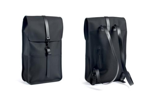 rain black backpack leather thumb