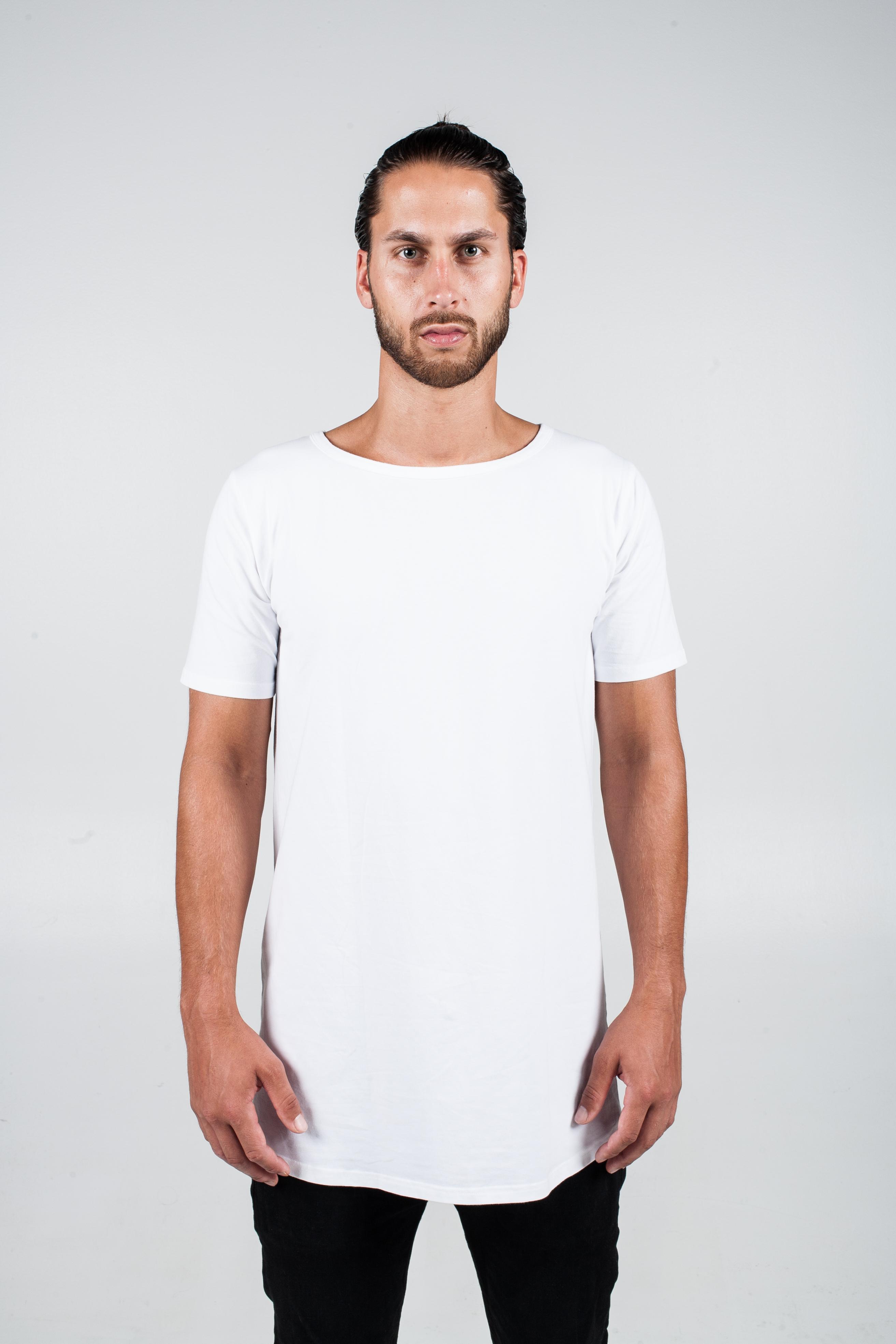 BASIC WHITE LONG T-SHIRT
