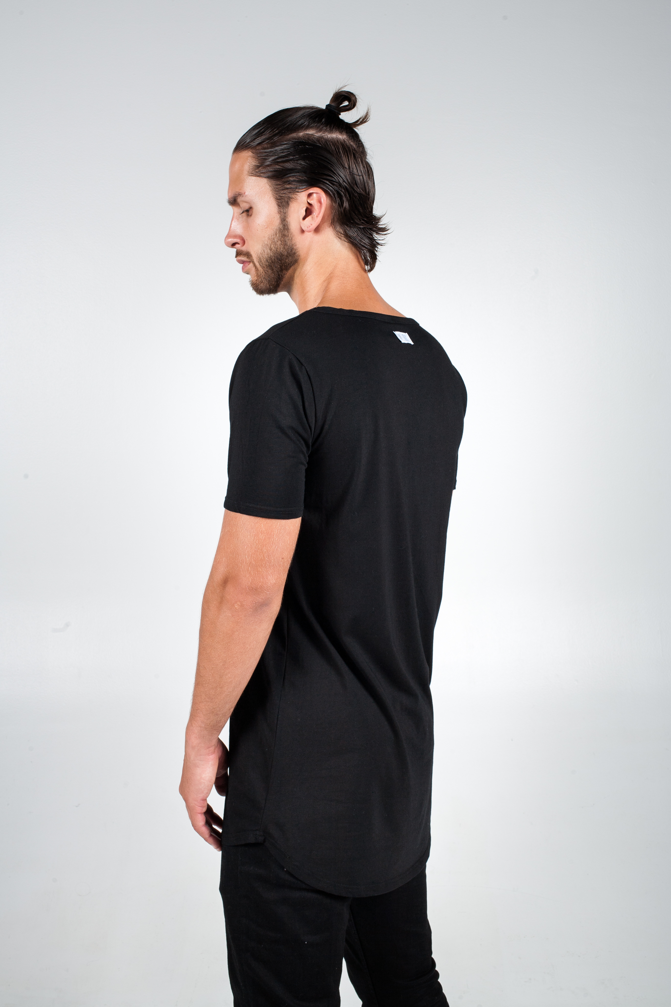 BASIC BLACK LONG T-SHIRT - WELHOUS™