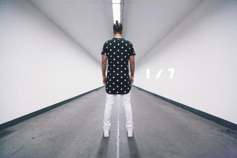 welhous polka dot black t-shirt