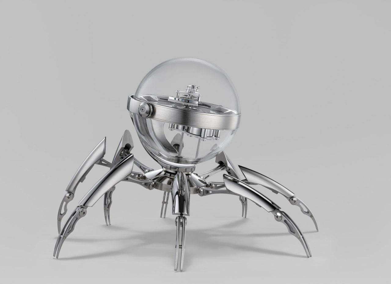 Octopod_mbandf_mb_and_f_spider_clock